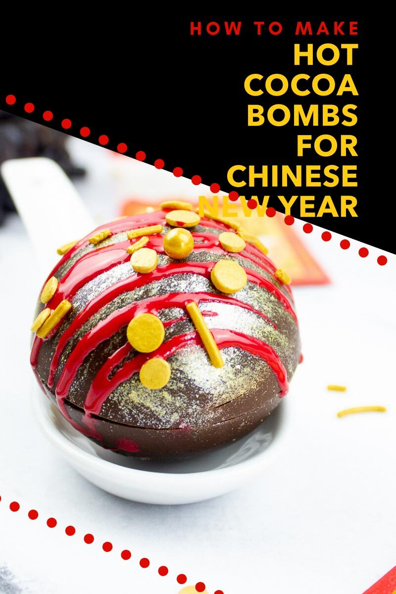 How To Make Hot Cocoa Bombs for Chinese New Year