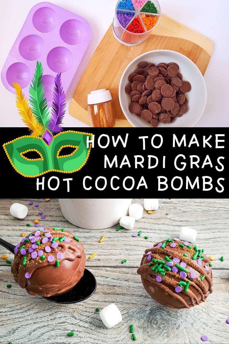 How To Make Hot Cocoa Bombs for Mardi Gras