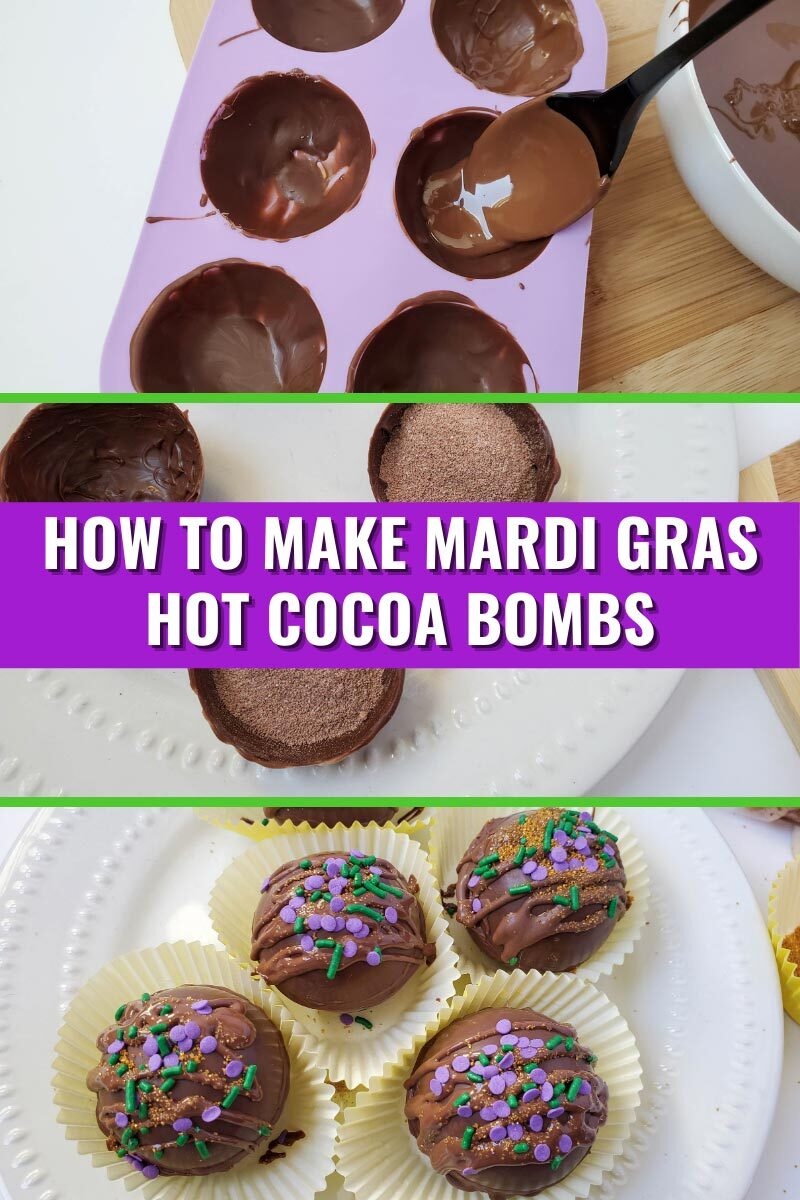 How To Make Mardi Gras Hot Cocoa Bombs