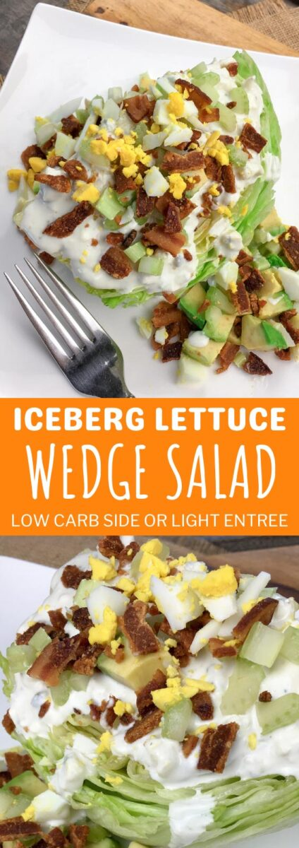 Iceberg Lettuce Wedge Salad - Low Carb Side or Entree