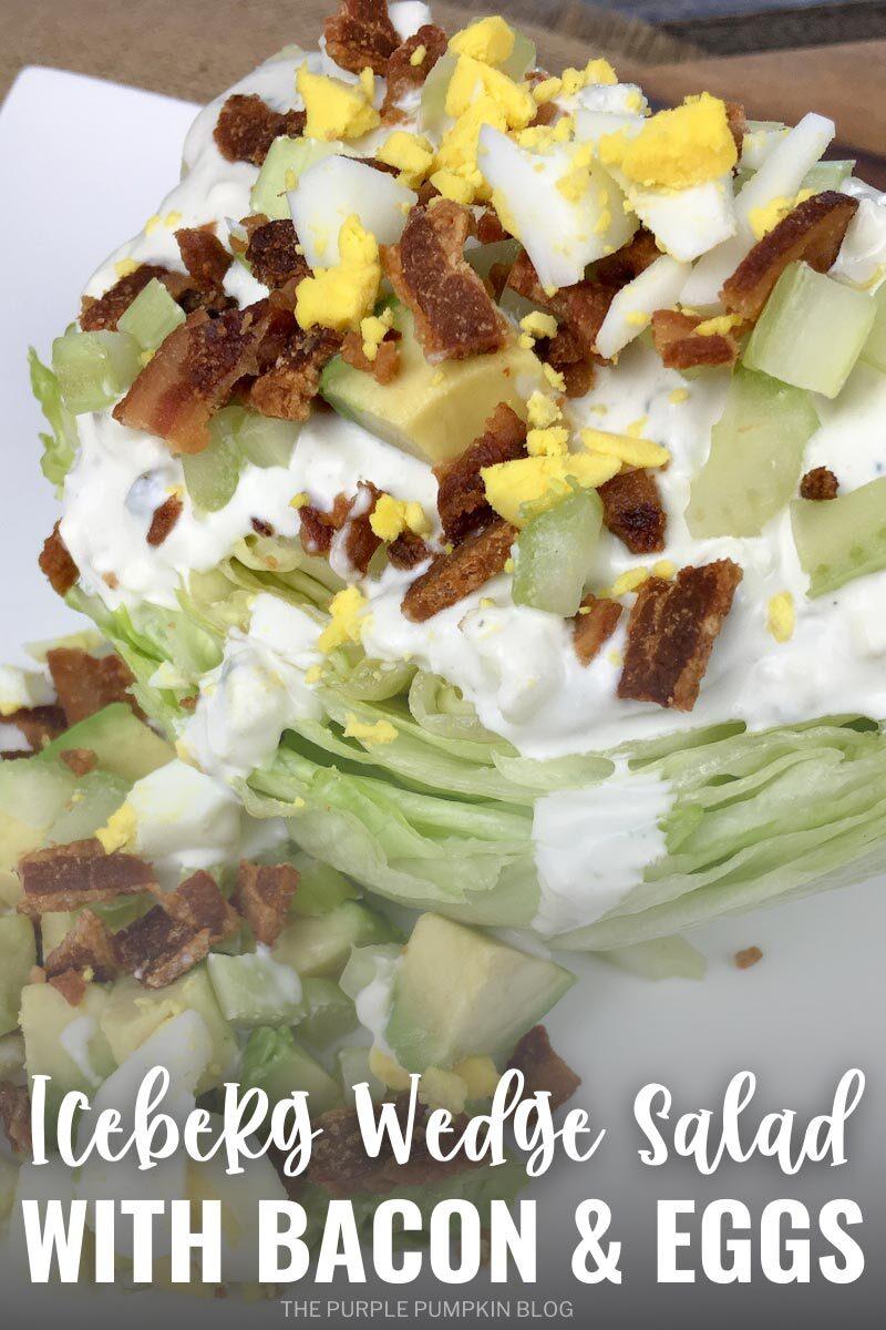 Iceberg Wedge Salad with Bacon & Eggs