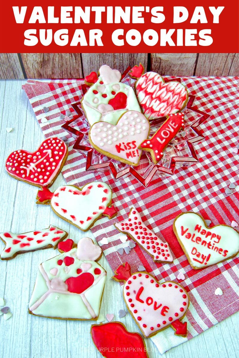 Iced Valentine's Day Sugar Cookies