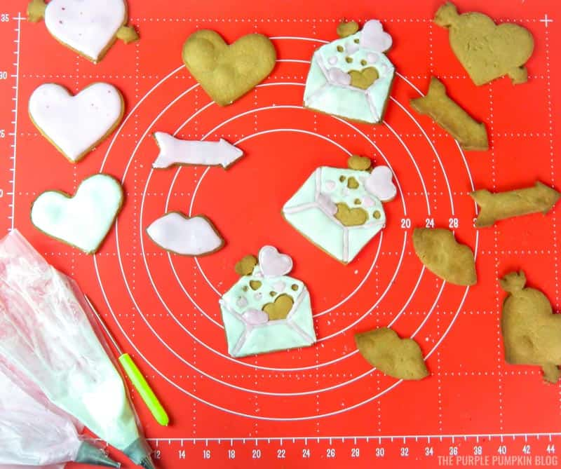 Icing the Valentine's Day Cookies