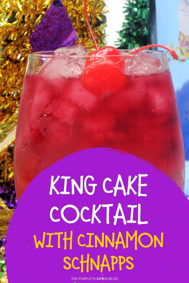 King Cake Cocktail with Cinnamon Schnapps
