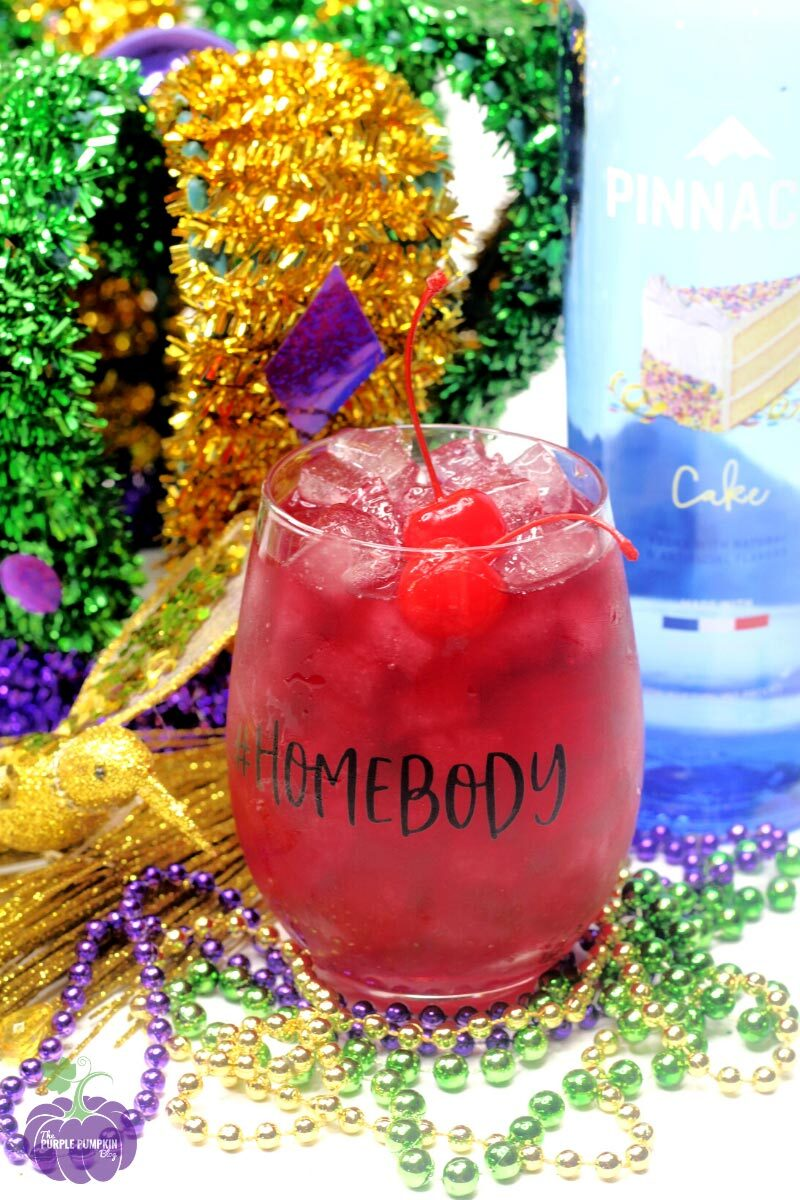 King Cake Mardi Gras Cocktail with Cake-Flavored Vodka