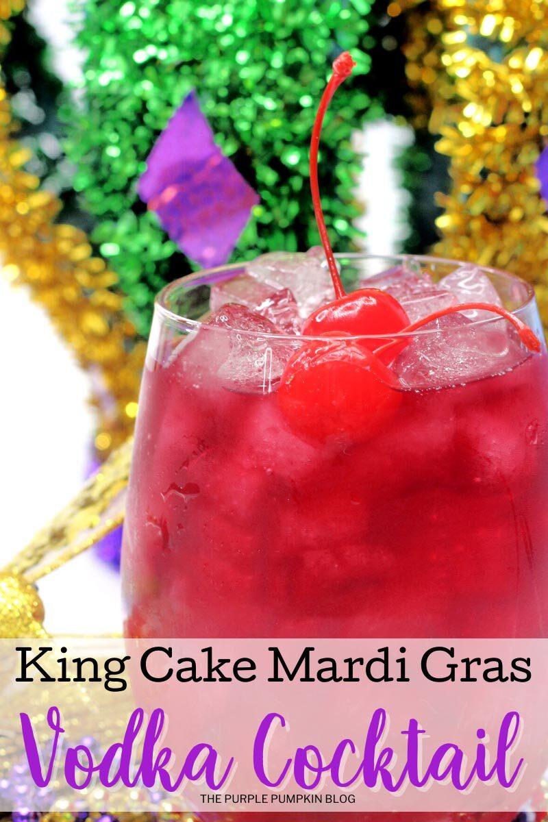 King Cake Mardi Gras Vodka Cocktail