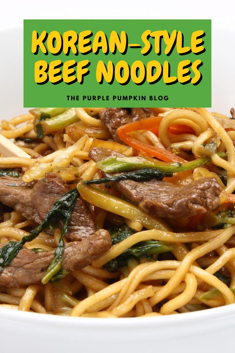 Korean Style Beef Noodles Recipe