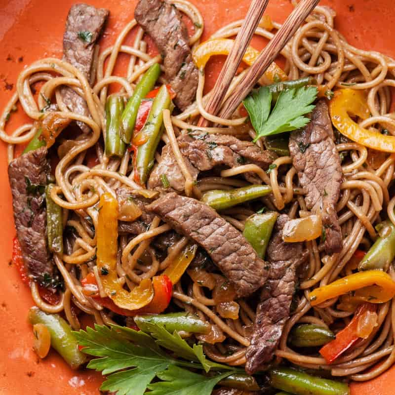 Korean-Style Beef Noodles Recipe