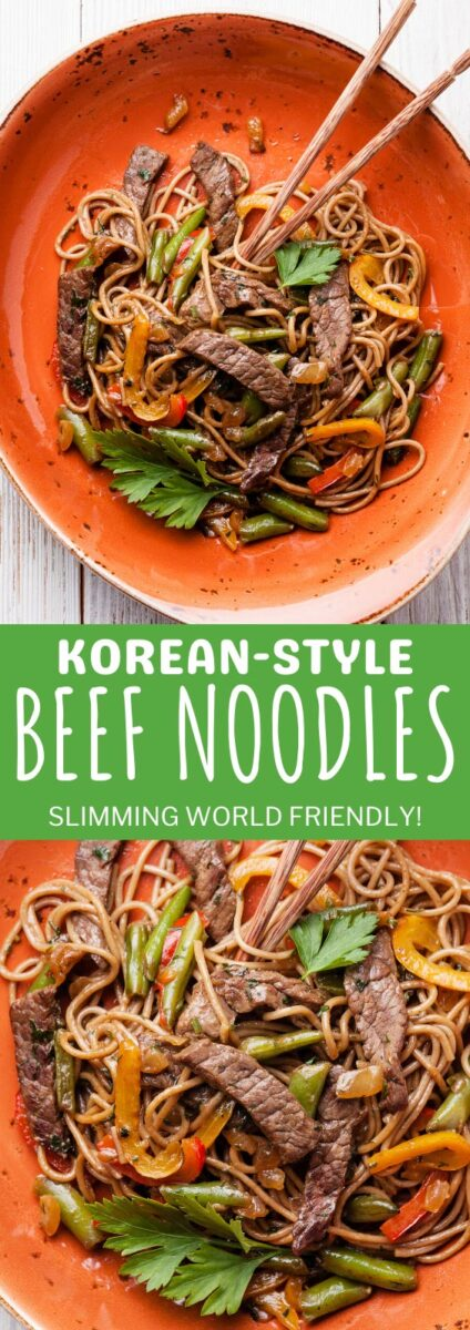 Korean-Style Beef Noodles Slimming World Friendly Recipe