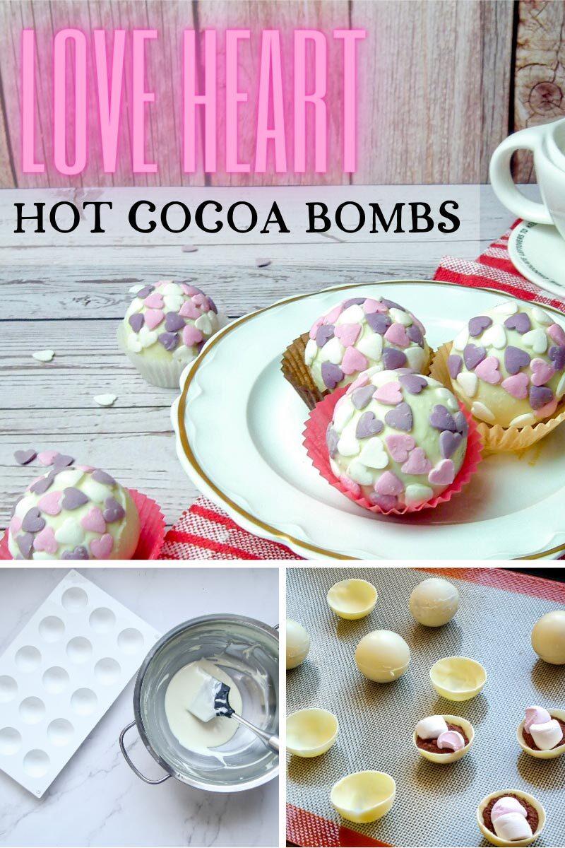 Love Heart Hot Cocoa Bombs