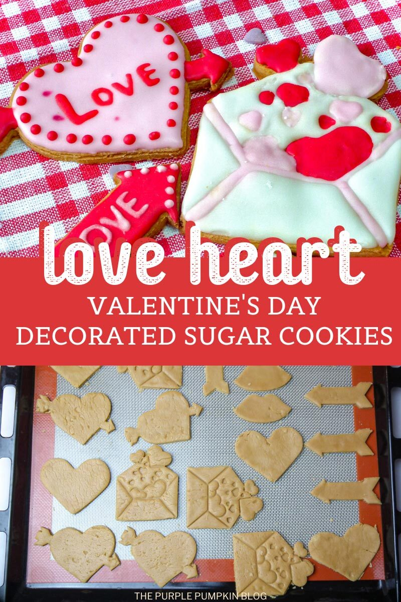 Love Heart Valentine's Day Decorated Sugar Cookies
