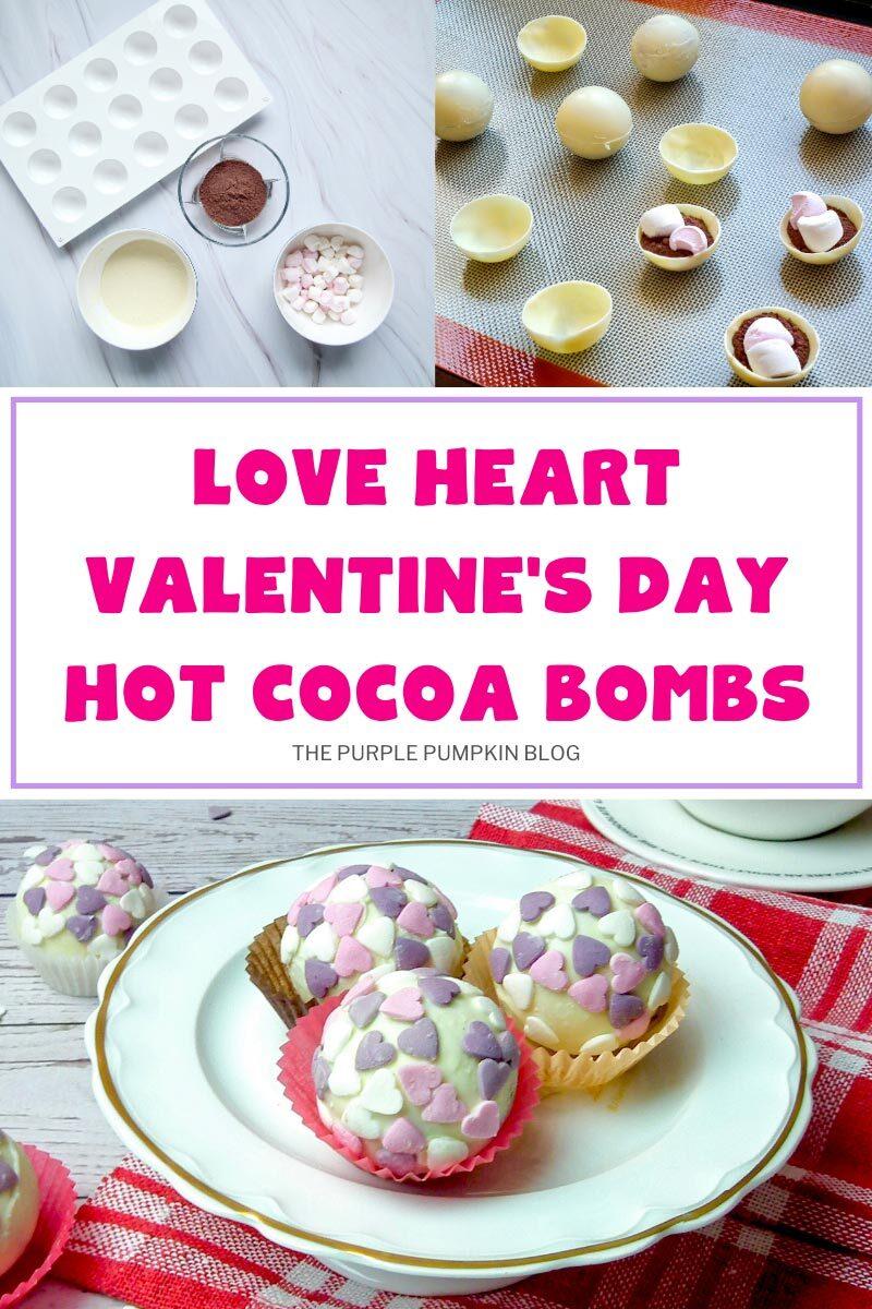 Love Heart Valentine's Day Hot Cocoa Bombs