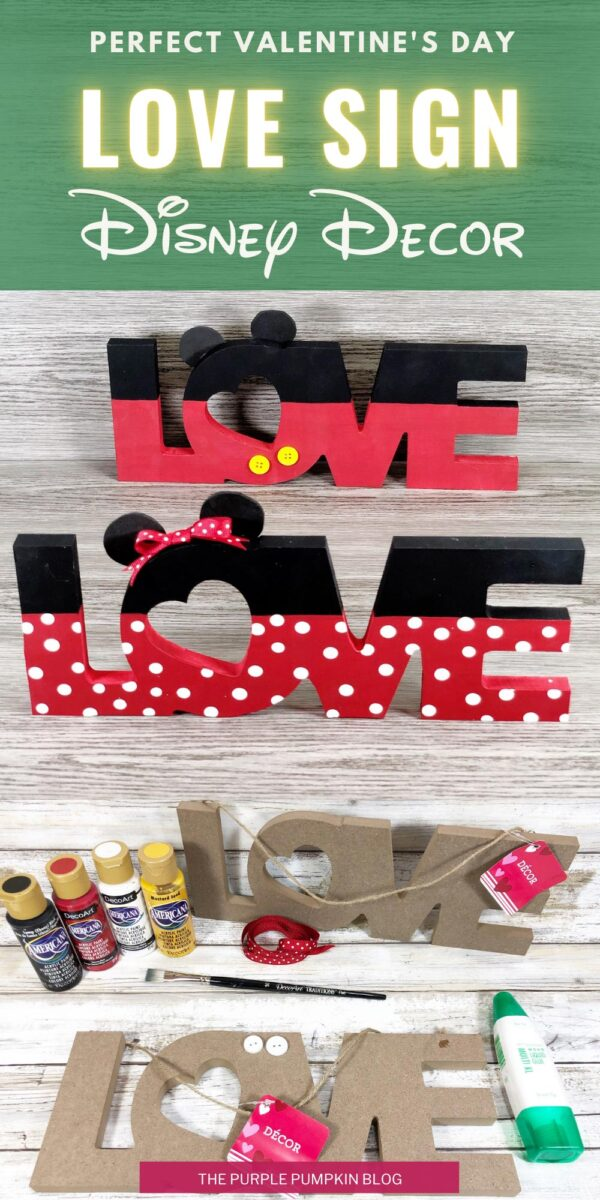 Love Sign Disney Decor for Valentine's Day