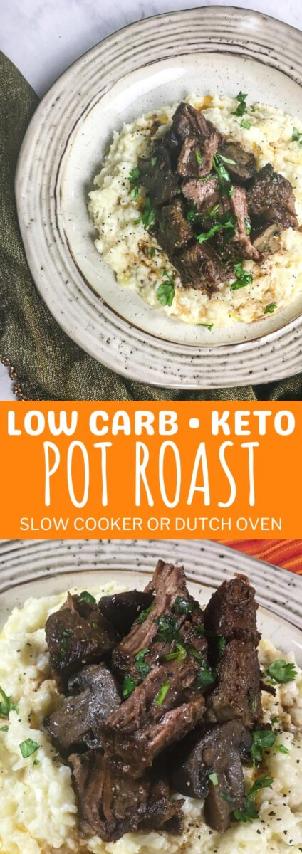 Low Carb Keto Pot Roast in the Slow Cooker or Dutch Oven