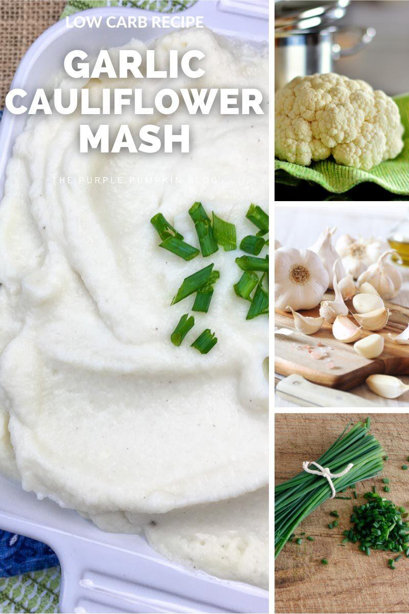 Low Carb Recipe for Garlic Cauliflower Mash