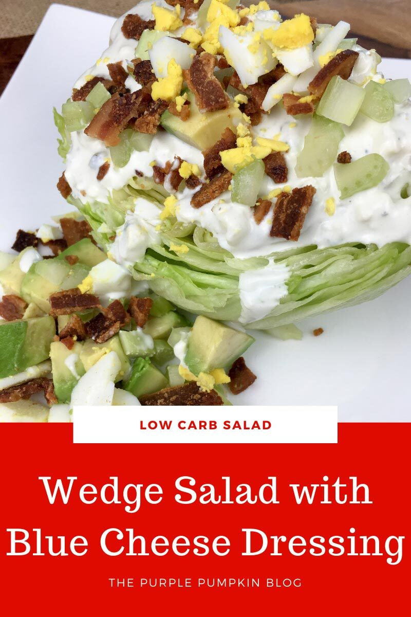 Low Carb Wedge Salad with Blue Cheese Dressing