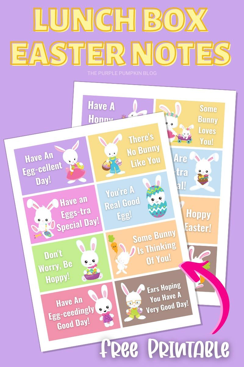 Lunch Box Easter Notes Free Printable