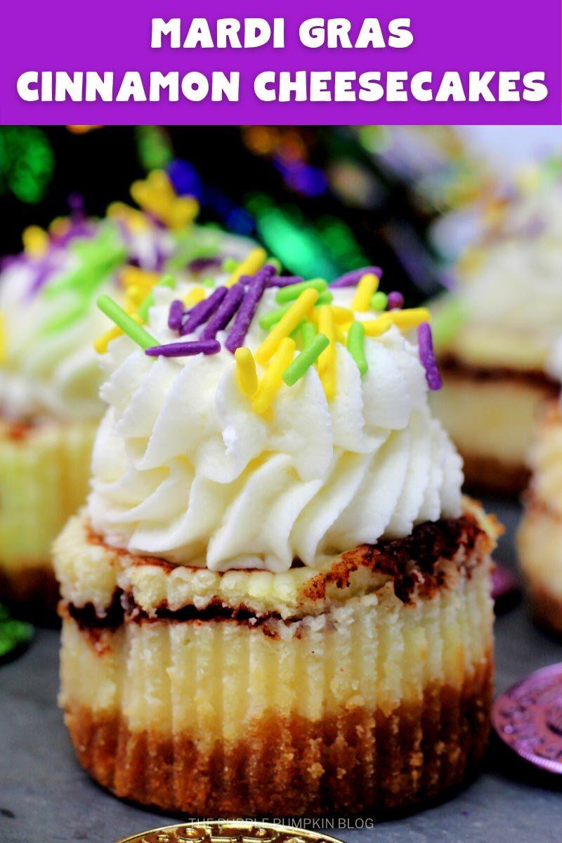 Mardi Gras Cinnamon Cheesecake Recipe