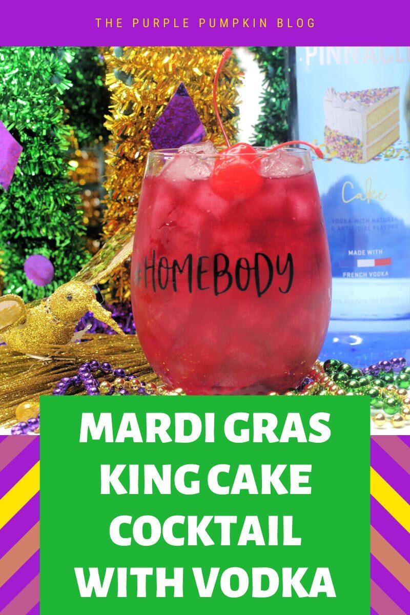 Mardi Gras King Cake Cocktail with Vodka