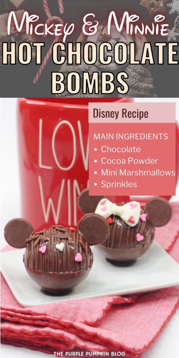 Mickey & Minnie Hot Chocolate Bombs