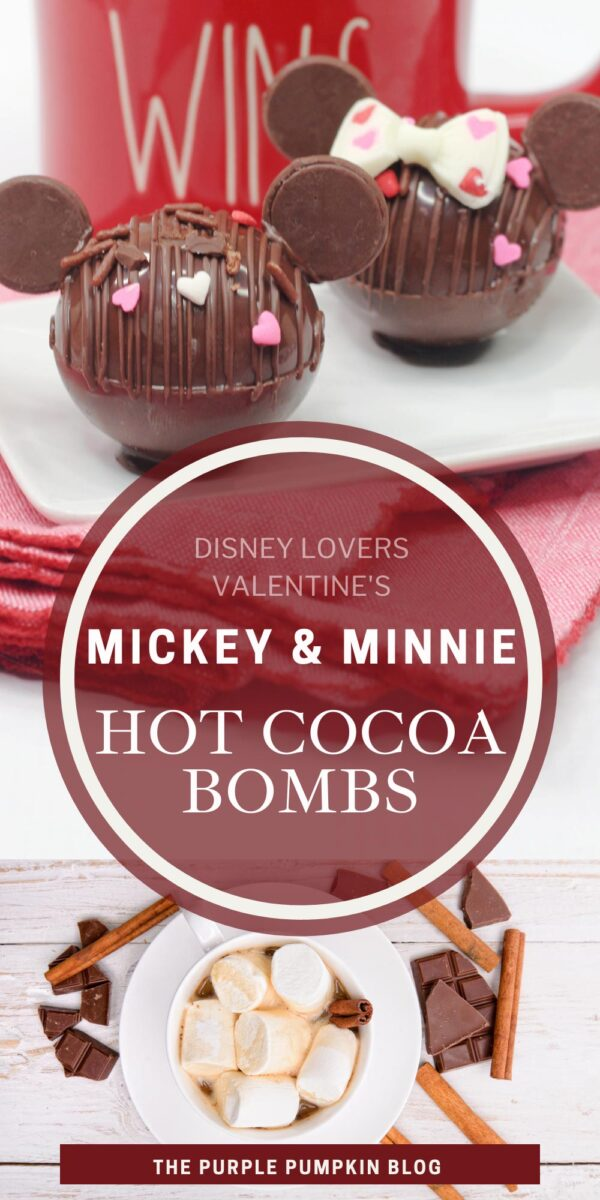 Mickey & Minnie Hot Cocoa Bombs for Disney Lovers!