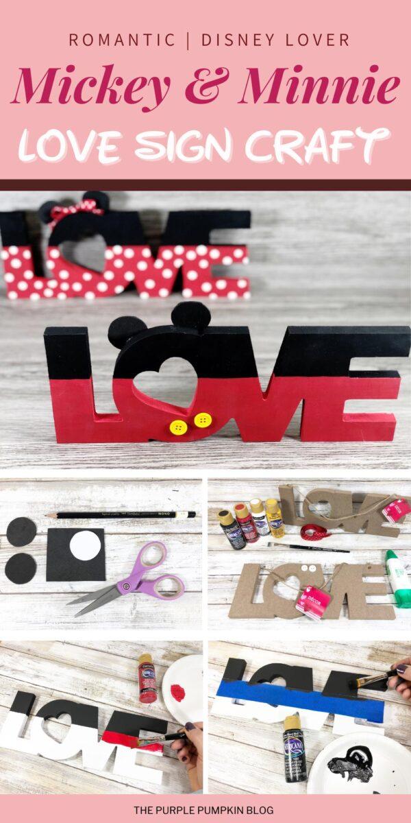 Mickey & Minnie Love Sign Craft