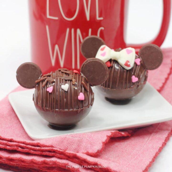 Mickey & Minnie Mouse Hot Cocoa Bombs Recipe