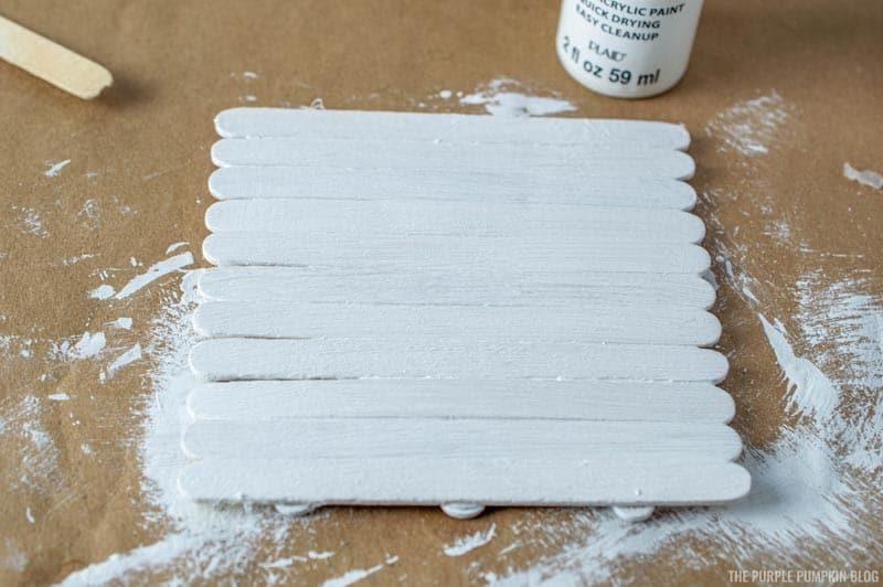 Painting Sticks White