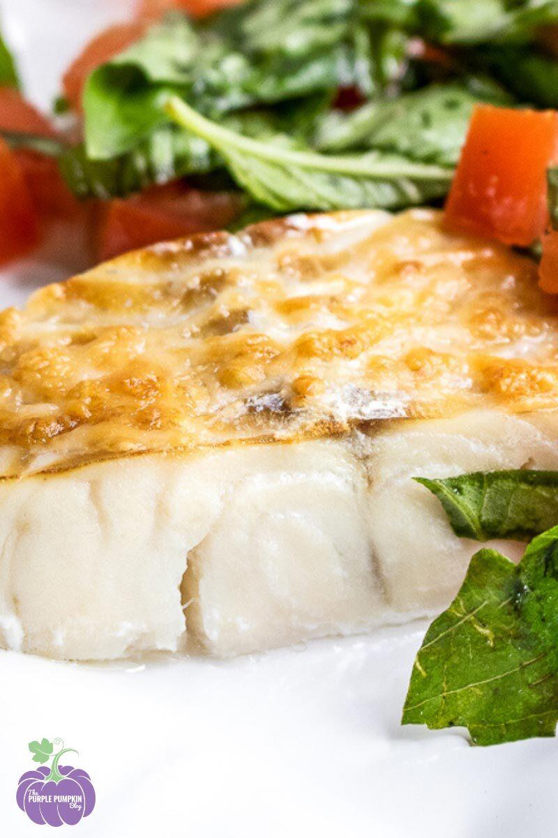Parmesan Haddock with Tomato Salad
