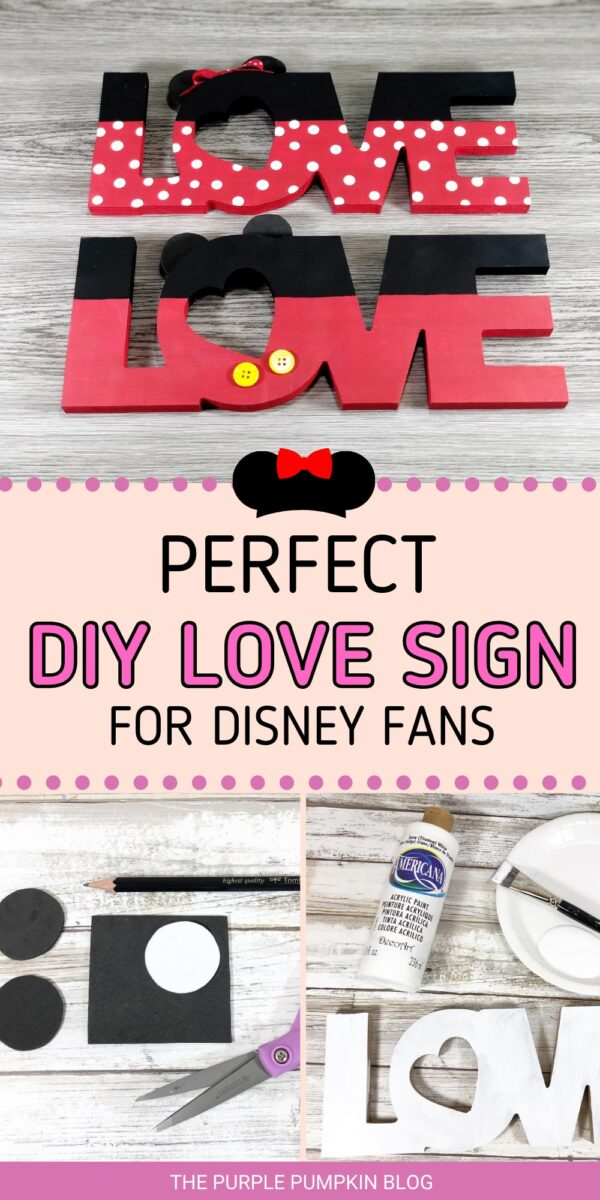 Perfect DIY Love Sign for Disney Fans