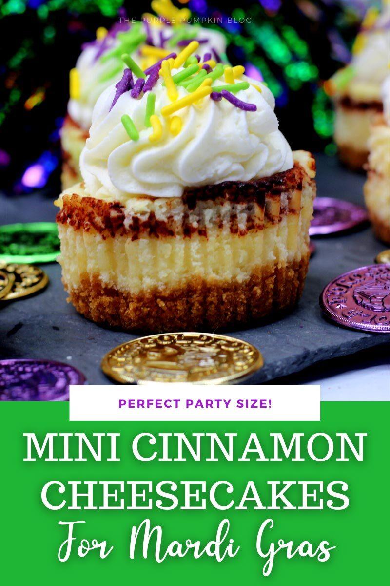 Perfect Party Size Mardi Gras Cheesecakes