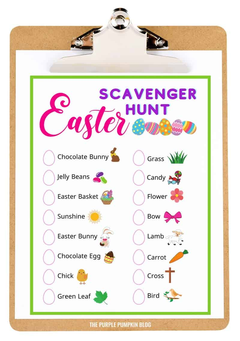 Printable Easter Scavenger Hunt