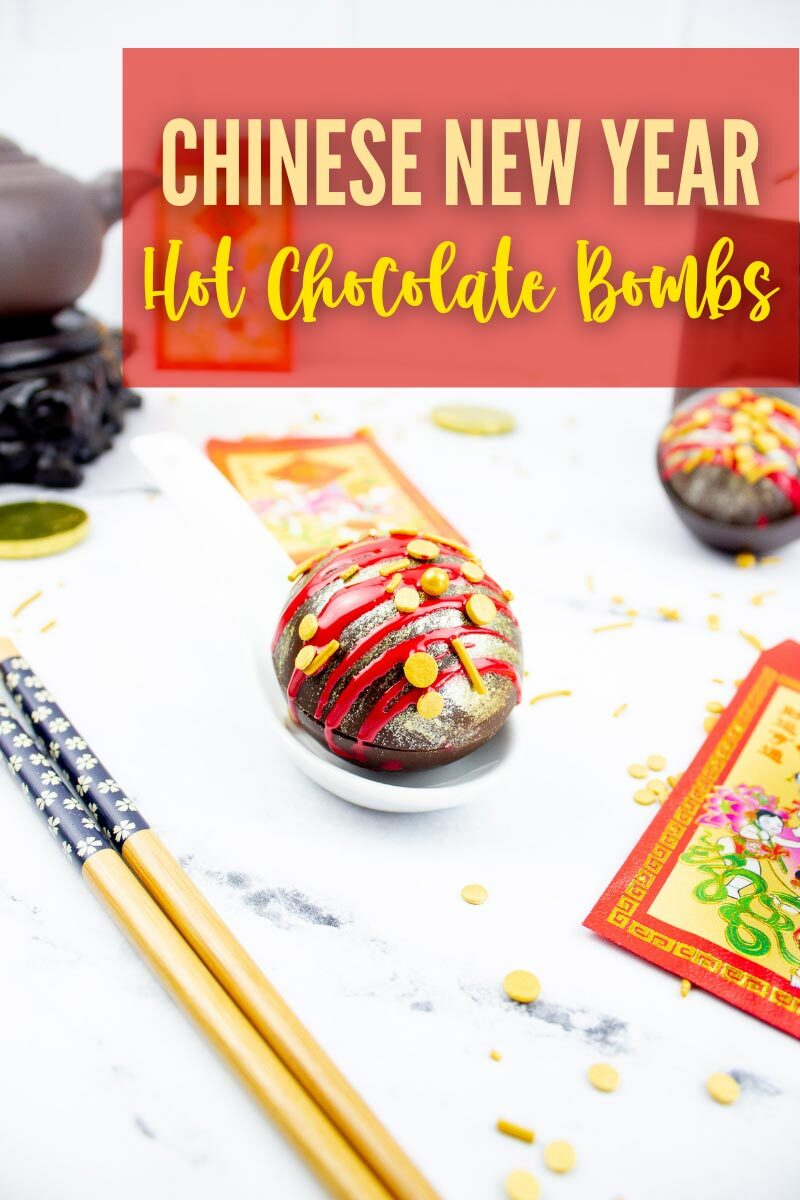 Recipe for Chinese New Year Hot Chocolate Bombs