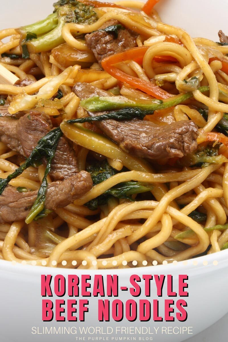 Recipe for Korean Style Beef Noodles