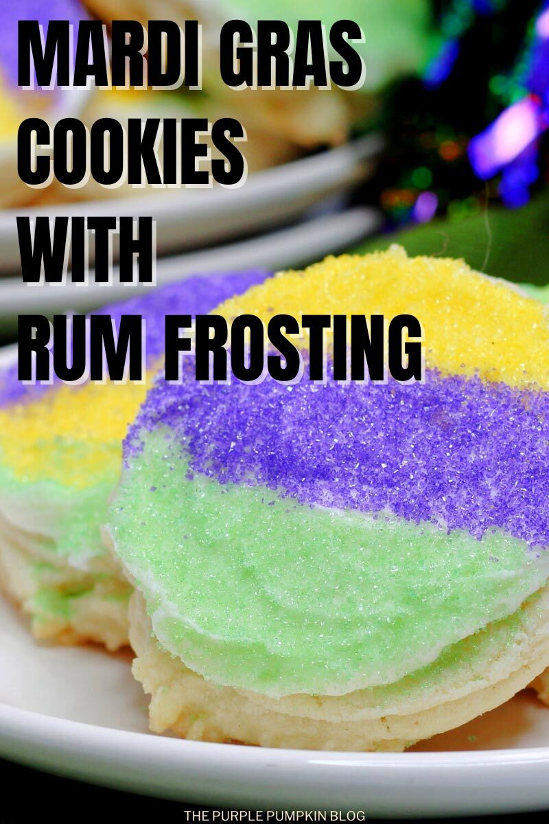 Recipe for Mardi Gras Cookies with Rum Frosting