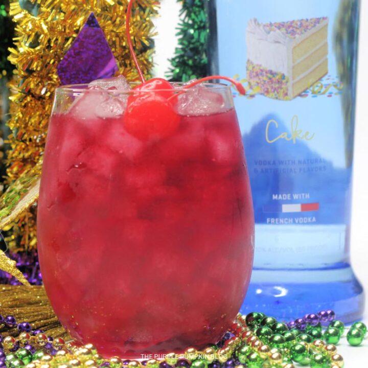 Recipe for Mardi Gras King Cake Cocktail