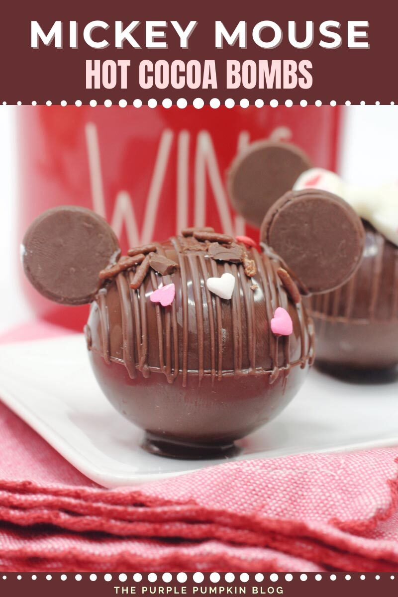 Recipe for Mickey Mouse Hot Cocoa Bombs