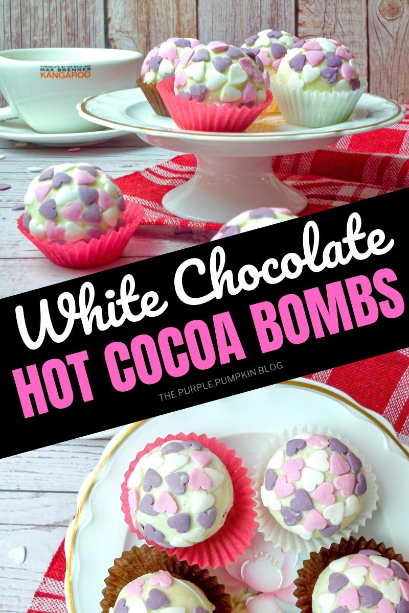 Recipe for White Chocolate Hot Cocoa Bombs