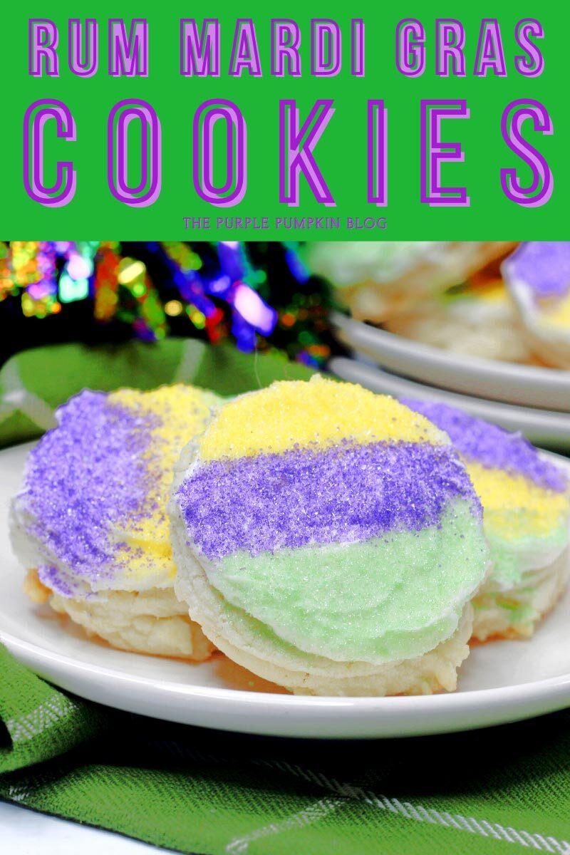 Rum Mardi Gras Cookies