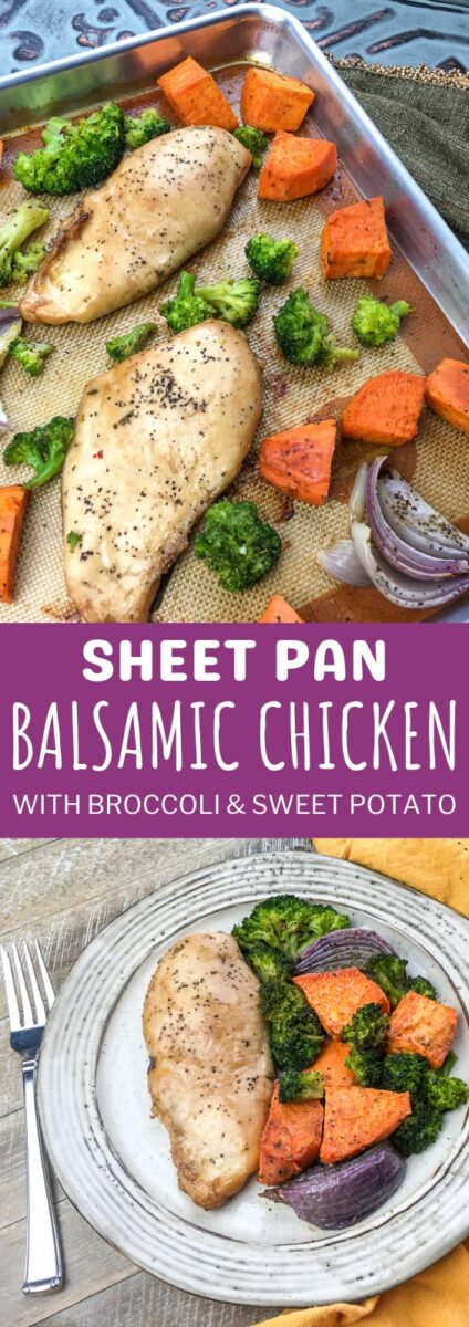 Sheet Pan Balsamic Chicken with Broccoli & Sweet Potato