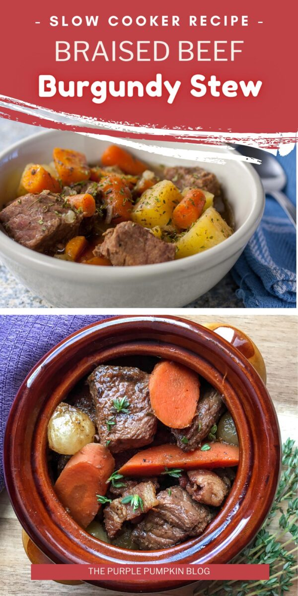 Slow Cooker Recipe for Braised Beef Burgundy Stew