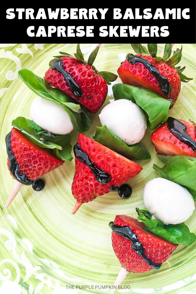Strawberry Balsamic Caprese Skewers
