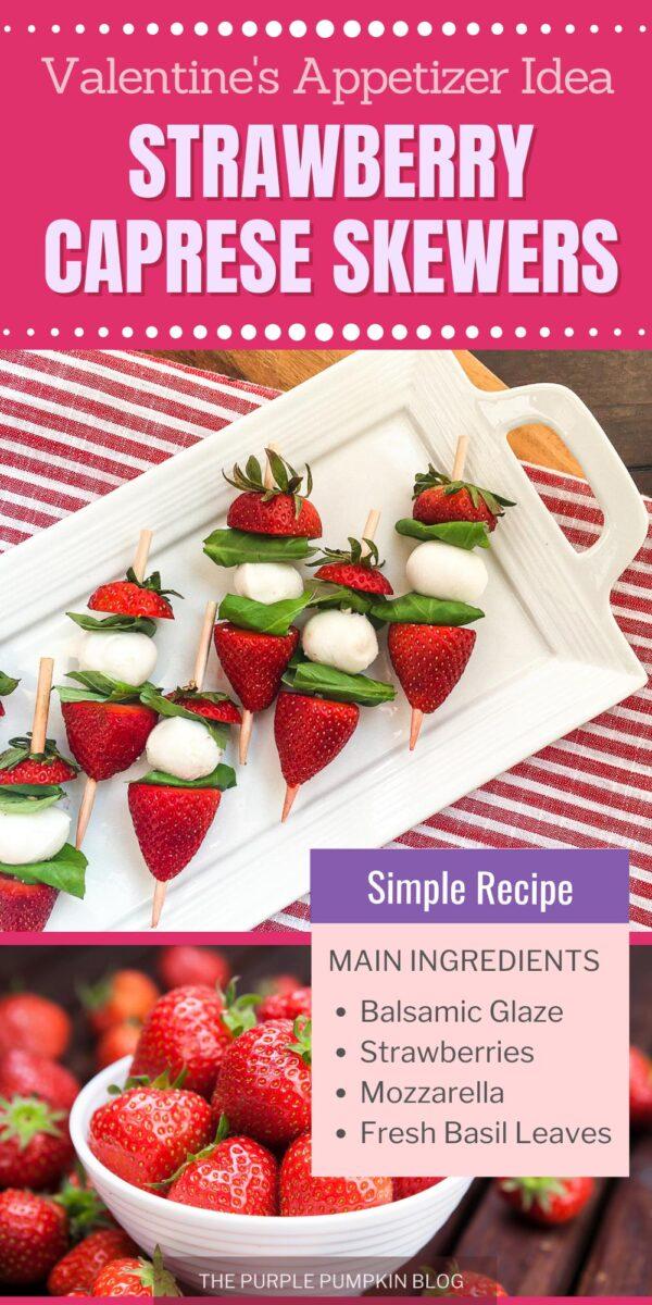 Strawberry Caprese Skewers - Valentine's Appetizer Idea