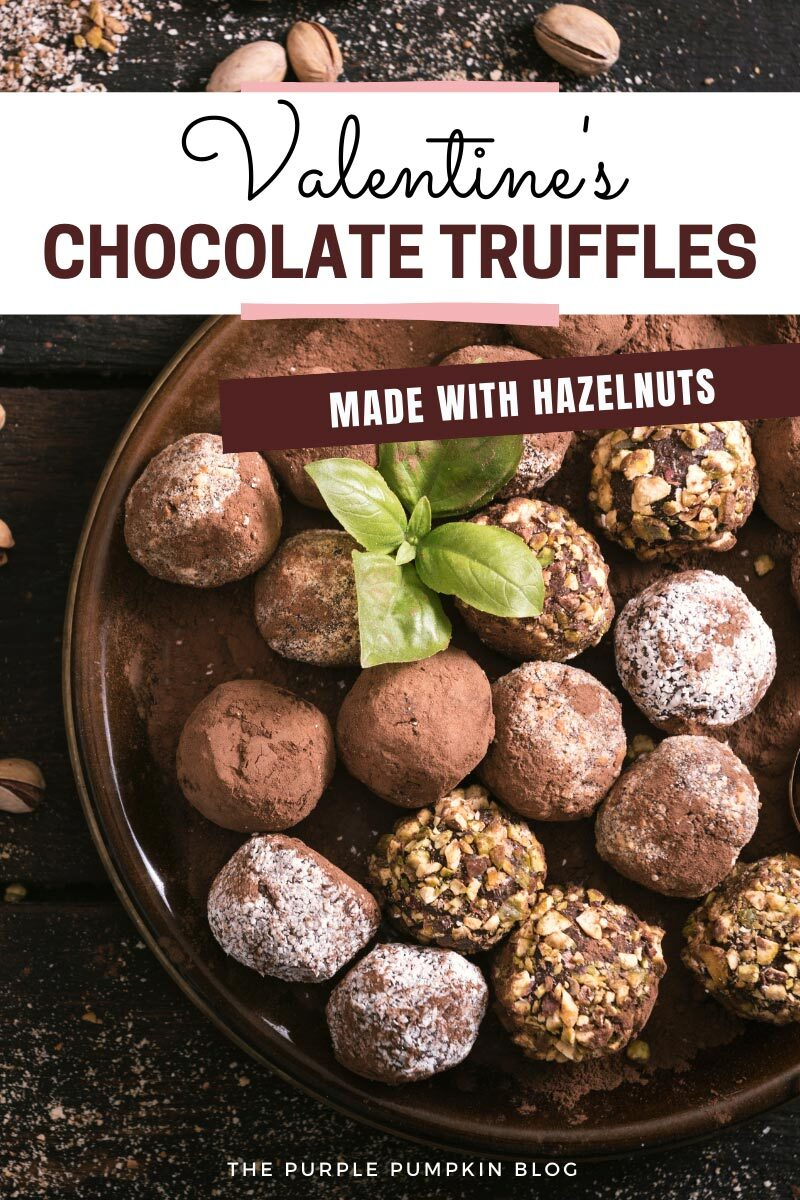 Valentine's Chocolate Truffles with Hazelnuts