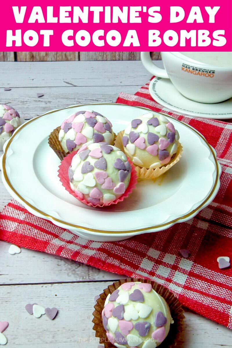 Valentine's Day Hot Cocoa Bombs