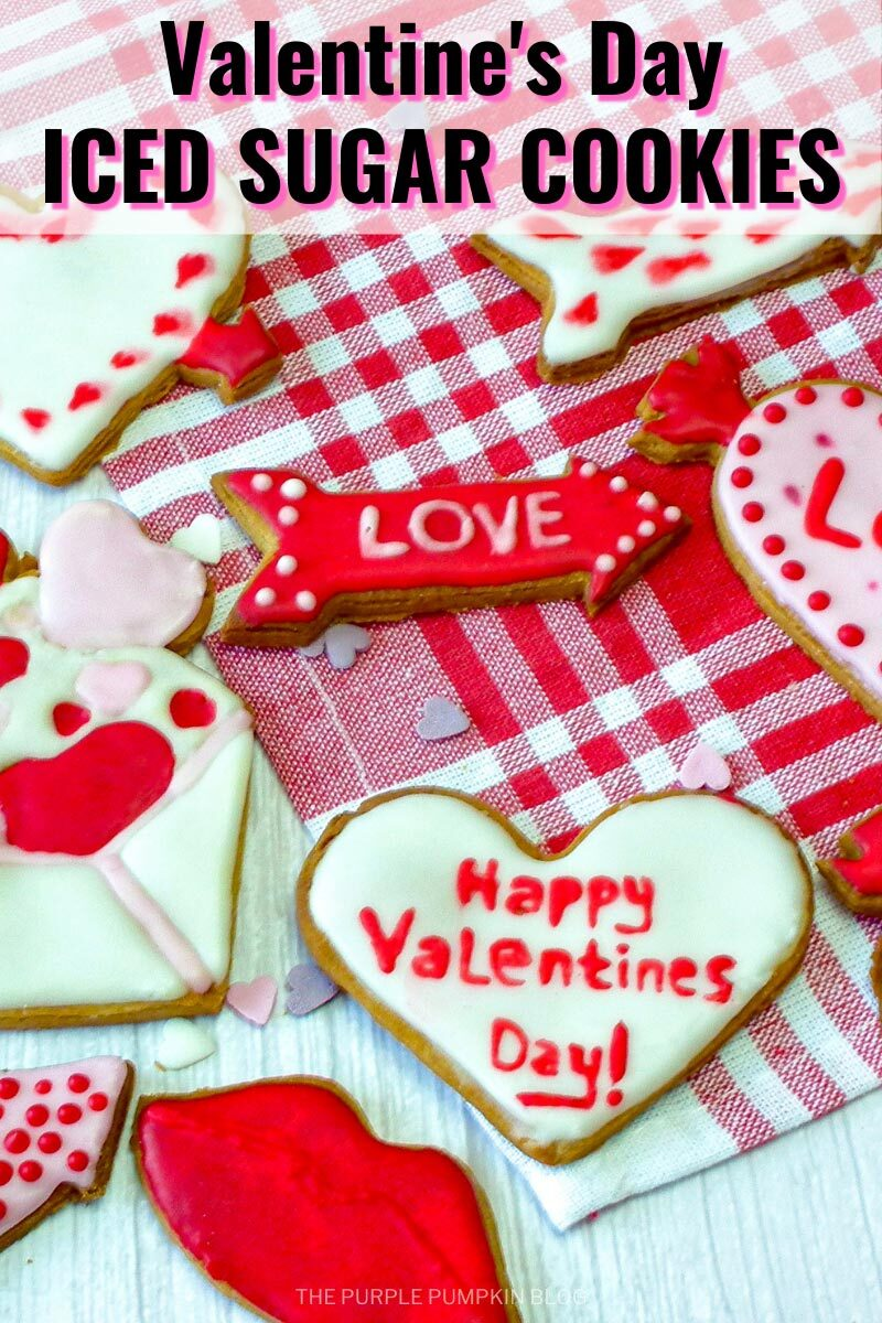 Valentine's Day Iced Sugar Cookies