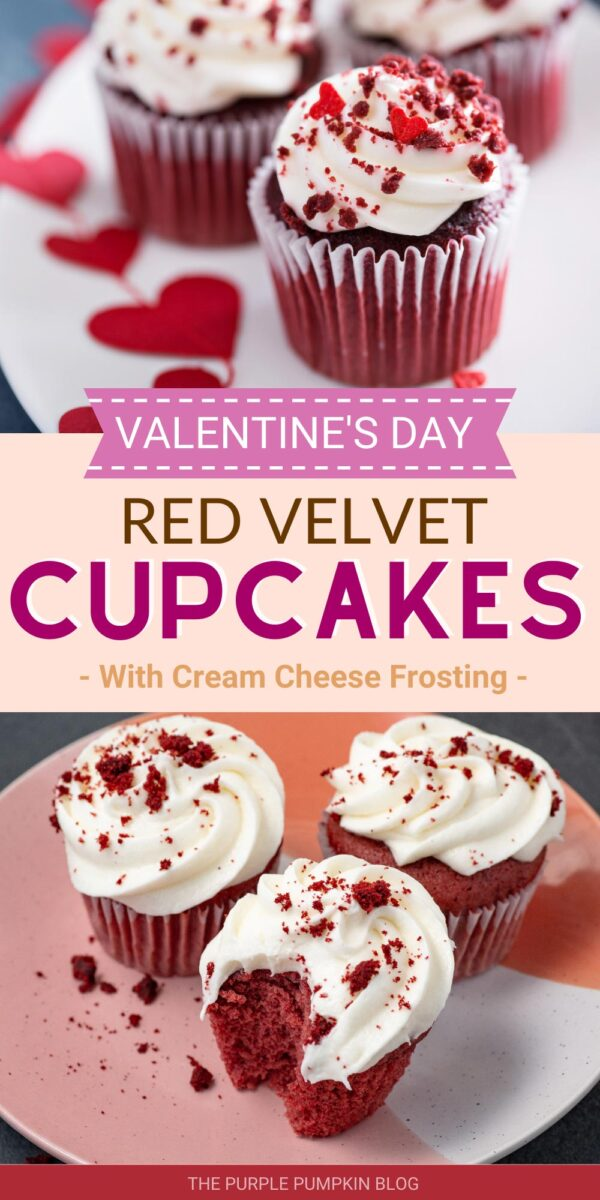 Valentine's Day Recipe for Red Velvet Cupcakes with Cream Cheese Frosting