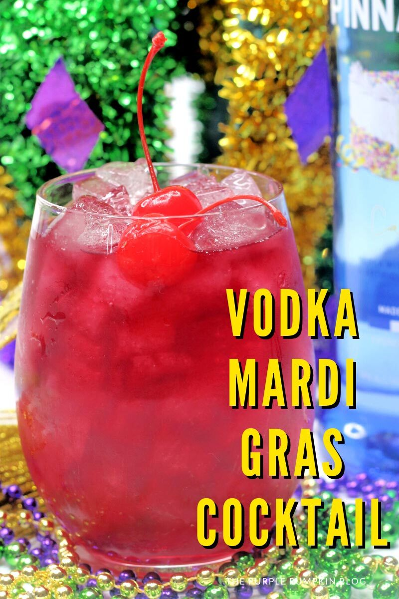 Vodka Mardi Gras Cocktail