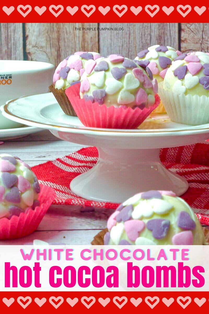 White Chocolate Hot Cocoa Bombs