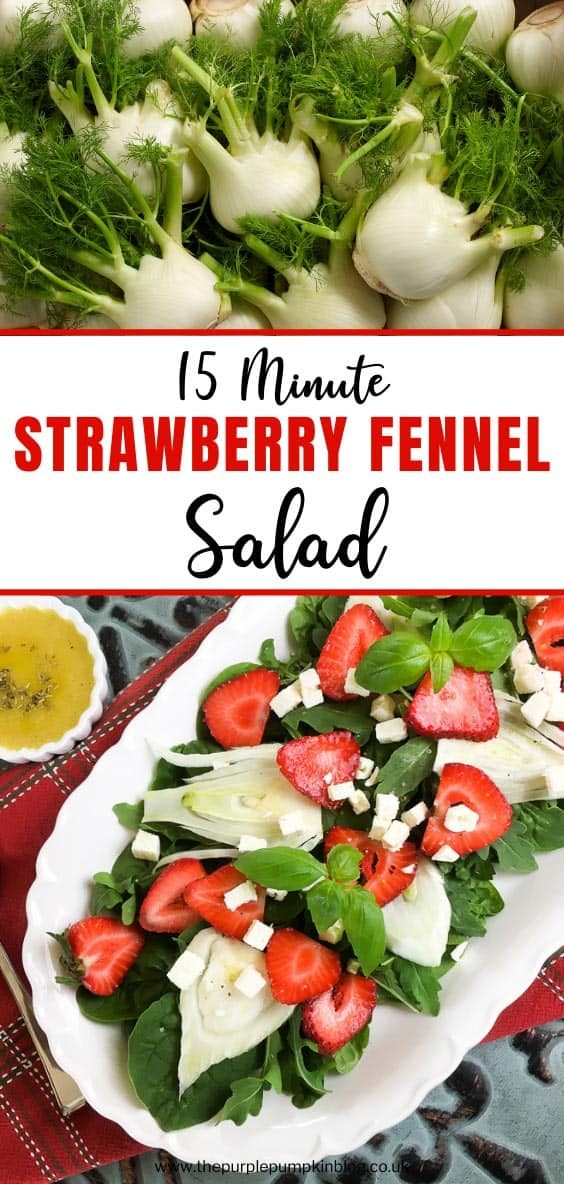 15 Minute Strawberry Fennel Salad